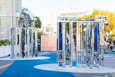 <p> San Francisco's Grove Street was closed town to accommodate an interactive, selfie-friendly mirror maze and step and repeat entrance....