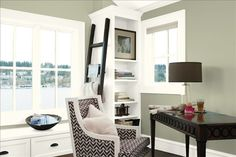 Gentil Benjamin Moore Brookside Moss Is One Of The Best Green Paint Colours. Fab  In This Home Office