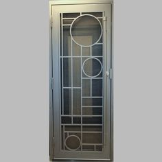 Naples Exclusive Security Screen Door - First Impression Ironworks Window Grill Design Modern, House Window Design, Balcony Grill Design, Grill Door Design, Door Gate Design, Door Design Interior, Metal Screen Doors, Iron Doors, Door Grill