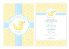 Rubber Ducky Personalised Party Invitations
