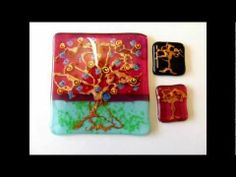 Glass Fusing Tutorial - Tree of Life. Fusing mica powder with glass.