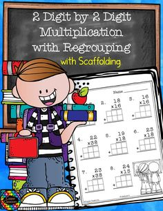 Basic by Multiplication with Regrouping Math Games, Math Activities, Math Worksheets, Teacher Resources, School Resources, Classroom Resources, Elementary Math, Upper Elementary, Multiplication Practice