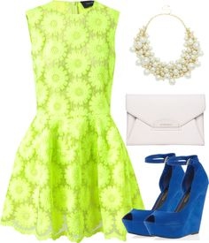 """Bright colors"" by madamechic ❤ liked on Polyvore"