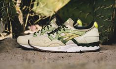 """Premium sneaker retailer Feature has unveiled its first collaborative project with ASICS: the GEL-Lyte V """"Prickly Pear."""""""