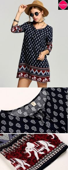 $15.99 Woman's Bohemian Style Mini Printed Dress. Get Additional 10% Off your first order at www.pescimoda.com Shipping all over United States. #WomansFallFashion #TeensFallFashion #TeensFallOutfits #TeensFallFashionOutfits #FallOutfits #FallFashion2016 #Stylish #Cute #BohoChic #ChicFashion #PrintedDress #BlackAndWhite #FallFashion #BohoFashion #FallCollection #WomansFashion #WomansFallOutfits #WomansFallFashion2016 #BohoFashion #Blue