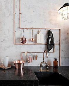 great copper hanging storage - INNER CITY SKYLINE - www.innercityskylineinc.com