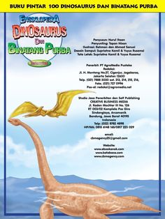Buku Pintar Ensiklopedia Dinosaurus dan Binatang Purba Katabaca.com Jurassic World, Study, Animals, Healthy, Studio, Animales, Animaux, Animal, Studying