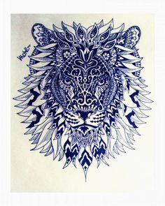 ~Too many rules kills creativity ~ #drawing #mandala #lion