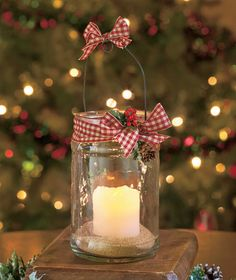 Holiday LED Candle Jar | LTD Commodities