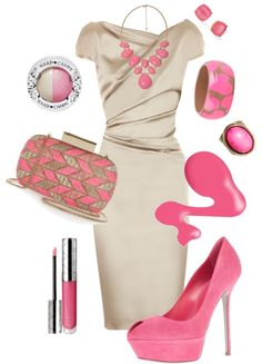 """Pink Accents"" by jaimie-a ❤ liked on Polyvore"