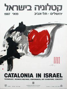 Antoni Tapies Catalonia in Israel Plakat Poster Kunstdruck Farblithografie Museum Poster, Exhibition Poster, Business Meeting, Israel, Ebay, Posters, Art, Gallery, Interior
