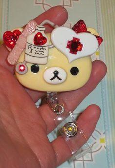 RX Prescription Love Teddy Bear Id Badge Retractable Reel Holder | evezbeadz - Accessories on ArtFire Id Badge Reels, Badge Holders, Spring Crafts, Nurses, Sanrio, Goodies, Students, Teddy Bear, Pasta