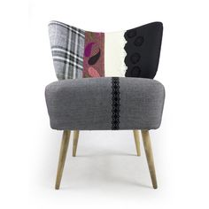 Boho chair , mide-century interior design , handmade ,  embroidery