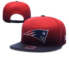 NFL New England Patriots Red Snapback Hats--yd