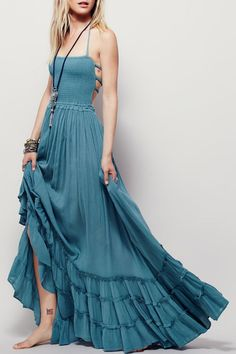 Details: Dress Silhouette: Maxi Dress Waist Line: Empire Occasion: Party Dress Length: Ankle Length Silhouette: High Waist Thickness: Standard Sleeve Length: Sleeveless Style: Casual,Fashion Neckline/