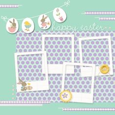 Super cute idea-Easter Scrapbook page by Heather Summers