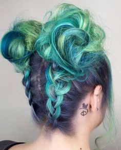 "Mermaidian Hairstyles on Instagram: ""#10000orbust! Our first featured artist today is @candicemarie702! I'm loving these braided space buns follow her page for more of her amazing work! #10000orbust is an Instagram movement that promotes deserving stylists with less than 10,000 followers. To be considered for our program, start hashtagging your best work with #10000orbust!"""