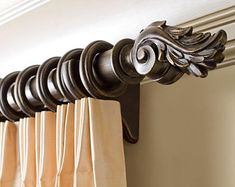 Kirsch curtain rods and discount drapery hardware including wood, metal and wrought iron drapery rods. Complete decorative wooden sets, decorative traverse rods and motorized curtain rods. Pinch Pleat Curtains, Curtains And Draperies, Pleated Curtains, Window Curtains, Valances, Shower Curtains, Wooden Curtain Rods, Drapery Rods, Curtain Poles