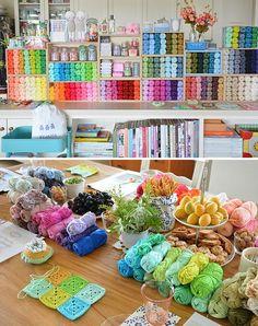 1 kitchen table & 80 cotton colours :: hooky summer workshops ::