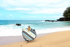 The Chella Round Aztec Beach Towel - Round Towel Co.