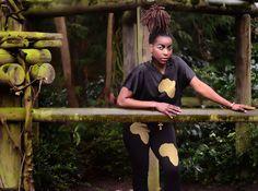 BLACK/GOLD africa leggings www.etsy.com/shop/Tabatap