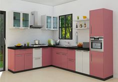 Small kitchen design layouts small l shaped kitchen design small l Moduler Kitchen, Modern Kitchen Cabinets, Kitchen Sets, Modern Kitchen Design, Interior Design Kitchen, Medium Kitchen, Kitchen Decor, Kitchen Corner, Kitchen Furniture