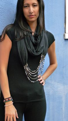 Purity Of Purpose Scarf Necklace