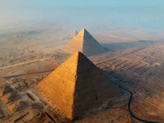 Giza PlateauAerial view of the Great Pyramids of Giza.