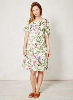 NEW Season Braintree Amelie Botanical Tencel Dress Amelie, Ethical Fashion Brands, Slow Fashion, Must Haves, Short Sleeve Dresses, Floral, Casual, Cotton, How To Wear