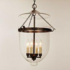 JVI Designs 4 Light Extra Large Bell Jar Foyer Pendant