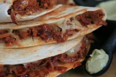 Pulled Pork #Quesadilla #dinner #recipe