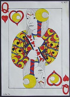 Self-portrait playing card designs