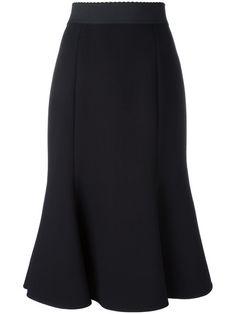 DOLCE & GABBANA Pleated Hem Midi Skirt. #dolcegabbana #cloth #skirt