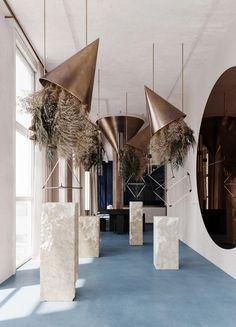 Flower Installation, Artistic Installation, Retail Design, Interior Design Inspiration, Event Decor, Cafe Bar, Event Design, Interior Architecture, Backdrops