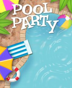 Pool Party Invitation Art Really Cool. Not the ordinary Pool Party Art, this is , Pool Party Birthday Invitations, Birthday Party Themes, Pool Quotes Summer, Poll Party, Pool Party Themes, Moana Theme, Party Names, Batman Party, Ad Art