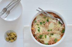 Italiaanse quinoa ovenschotel met mozzarella