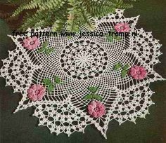 The Rose Doily free vintage crochet doilies patterns