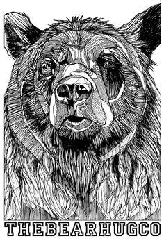 Luke Dixon Cat Coloring Page, Bear Claws, Sketch Inspiration, Love Illustration, Bear Art, Animal Sketches, Spirit Animal, Art Inspo, Painting & Drawing