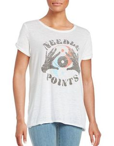 Free People Polly Graphic Tee Women's Grey X-Small