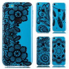 Black Lace pattern TPU Silicone Soft sFor Apple iphone 5C Case For iphone 5C 5 C 4.0 inches Phone Case Cover