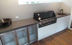 Makers Lane :: Outdoor Concrete Kitchen Benchtop Custom Made, Bespoke Furniture made in Australia.