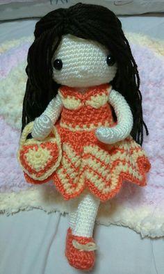 My crochet dolls: Hello everyone! I'm Cherie. Nice to meet you!