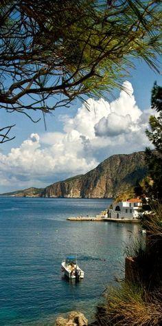 Assos, Kefalonia, Greece (by Rodger E Clark)