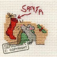 Stitchlets Christmas Card Cross Stitch Kit - Waiting for Santa - Giggle Squiggle