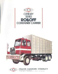 1972 CCC Crane Carrier HalfCab Container Truck Brochure wg4168-H86VSJ