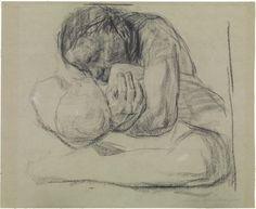 Frau mit totem Kind,1903, fusain et crayon sur papier, 47 x 58,2 cm, collection privée
