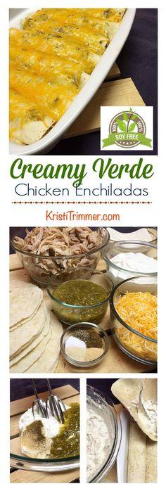 Easy to make gluten free and keto! Creamy Chicken Enchiladas, Enchiladas Healthy, Healthy Mexican Recipes, Keto Recipes, Crockpot, Paleo, Healthy Eating, Healthy Food, Dinner Recipes