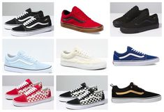 d9505d9ea4 New Vans Womens Old Skool Lace Up Red Blue Pink Suede Leather Shoes 5.5 -  12.5