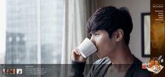 [가을, 커피 그리고 원빈]  메인페이지는 5가지의 원빈 이미지가 롤링되는 형식입니다. 심장어택주의! 원빈과 가을과 커피는 이제 공식이 되어버린 것 같습니다.