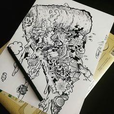 My draw of a pizza piece 🍕😁